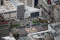 aerial photograph Saks Fifth Avenue Tiffany & Co Union Square San Francisco, California
