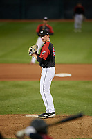 Erie SeaWolves pitcher Billy Lescher (49) during an Eastern League game against the Altoona Curve on June 3, 2019 at UPMC Park in Erie, Pennsylvania.  Altoona defeated Erie 9-8.  (Mike Janes/Four Seam Images)