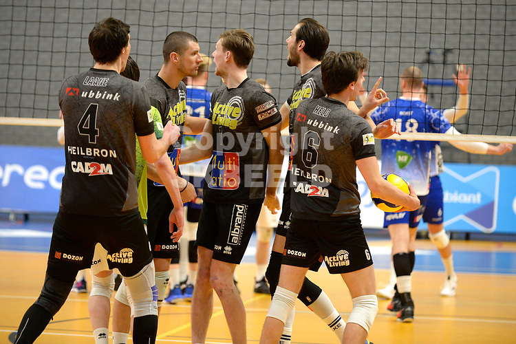 06-03-2021: Volleybal: Amysoft Lycurgus v Active Living Orion: Groningen blijdschap bij Orion