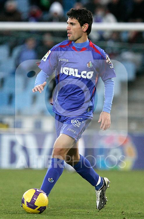 Getafe's Jaime Gavilan during La Liga match, December 14, 2008. (ALTERPHOTOS).