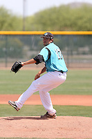 Devyn Rivera, Chandler-Gilbert CC, pitching against South Mountain CC in Gilbert, AZ - 04/10/2010.Photo by:  Bill Mitchell/Four Seam Images.
