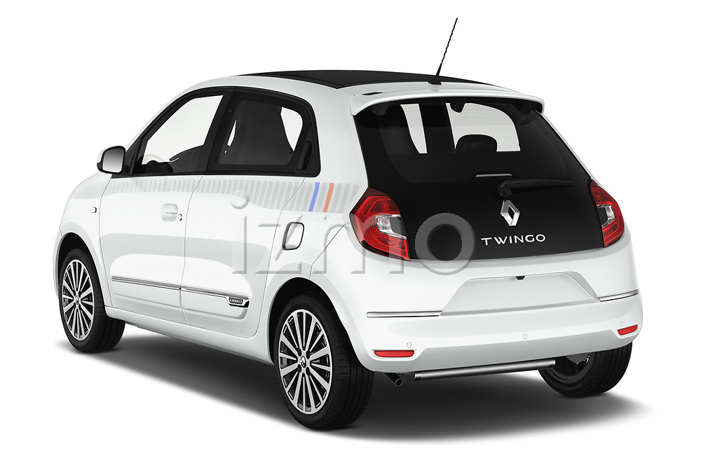 Car pictures of rear three quarter view of a 2019 Renault Twingo Edition One + 5 Door Hatchback angular rear