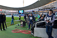 SYDNEY, AUSTRALIA - JULY 31, 2010: Images of the stadium prior to the match between AEK Athens FC and Glasgow Rangers during the 2010 Sydney Festival of Football held at the Sydney Football Stadium on July 31, 2010 in Sydney, Australia. (Photo by Sydney Low / www.syd-low.com)