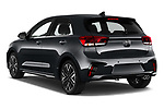 Car pictures of rear three quarter view of 2021 KIA Rio GT-Line 5 Door Hatchback Angular Rear
