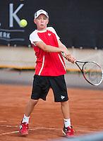 08-08-13, Netherlands, Rotterdam,  TV Victoria, Tennis, NJK 2013, National Junior Tennis Championships 2013, Lodewijk Westrate<br /> <br /> <br /> Photo: Henk Koster