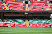 Monday 3 November 2014<br /> Pictured: Millennium Stadium<br /> Re: WRU unveils new hybrid pitch at the Millennium Stadium, Cardiff.