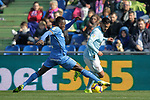 Getafe CF's Djene Dakoman and Celta de Vigo's Sofiane Boufal  during La Liga match. February 09,2019. (ALTERPHOTOS/Alconada)