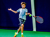 Hilversum, Netherlands, December 3, 2017, Winter Youth Circuit Masters, 12,14,and 16 years, Boudewijn Willems (NED)<br /> Photo: Tennisimages/Henk Koster