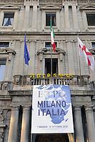 - cerimonia a Palazzo Marino, sede del Comune di Milano, per la consegna della bandiera dell'Esposizione Universale <br /> <br /> - ceremony at Palazzo Marino, headquarters of Milan Municipality, for  delivery of World's Exposition  flag