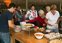 Hilversum, The Netherlands, 05.03.2014. NOVK ,National Indoor Veterans Championships of 2014, midday snacks, <br /> Photo:Tennisimages/Henk Koster