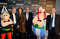 COSTA GAVRAS AUDREY AZOULAY SERGE TOUBIANA - Vernissage de l' exposition Goscinny - La Cinematheque francaise 02 octobre 2017 - Paris - France