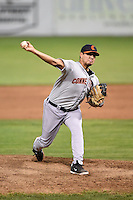 Connecticut Tigers pitcher Gabe Hemmer (52) delivers a pitch during a game against the Batavia Muckdogs on July 21, 2014 at Dwyer Stadium in Batavia, New York.  Connecticut defeated Batavia 12-3.  (Mike Janes/Four Seam Images)