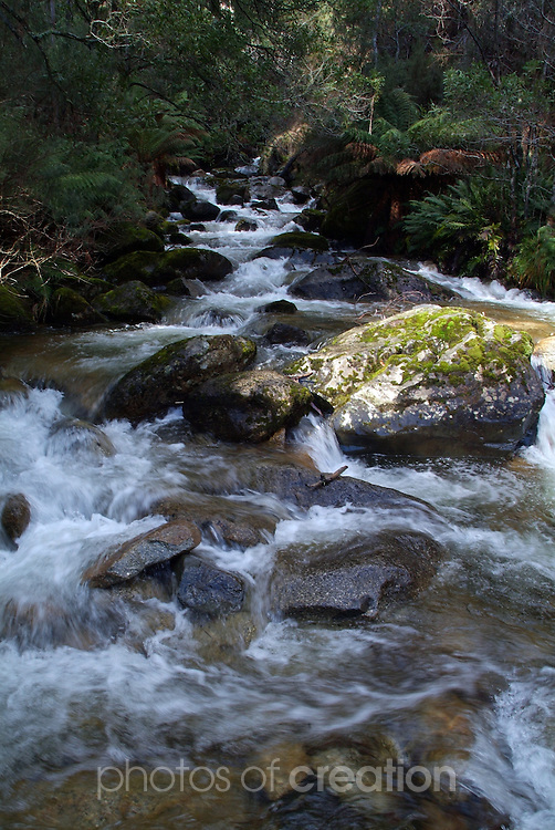 Rapids on Eight Mile Creek. Snowy Mountains national Park NSW