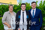 Conor Carey McGuire from Holy Family NS receiving his Confirmation in St Brendan's Church on Tuesday, l to r: Sheila Carey, Conor Carey McGuire and Dylan Carey.