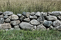 Fieldstone wall detail, Cape Cod, Massachusetts, USA.