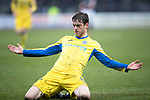 Dundee v St Johnstone…10.03.18…  Dens Park    SPFL<br />Murray Davidson celebrates his goal<br />Picture by Graeme Hart. <br />Copyright Perthshire Picture Agency<br />Tel: 01738 623350  Mobile: 07990 594431