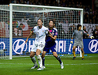Abby Wambach, Saki Kumagai.  Japan won the FIFA Women's World Cup on penalty kicks after tying the United States, 2-2, in extra time at FIFA Women's World Cup Stadium in Frankfurt Germany.