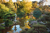 Japanese Tea Garden, Golden Gate Park, San Francisco. Pond.