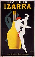 Europe/France/Aquitaine/64/Pyrénées-Atlantiques/Saint-Jean-de-Luz: Ecomusée de la tradition basque - Détail d'une ancienne affiche pour la liqueur Izarra