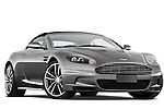 Low aggressive passenger side front three quarter view of a 2007 - 2012 Aston Martin DBS Volante Convertible.