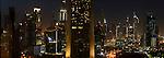 Downtown Dubai skyline at night. Dubai, United Arab Emirates.