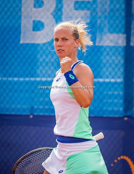 Amstelveen, Netherlands, 1 August 2020, NTC, National Tennis Center, National Tennis Championships,  Womans Final : Richel Hogenkamp (NED) shows her emotion<br /> Photo: Henk Koster/tennisimages.com