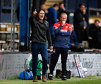 3rd October 2020; Kenilworth Road, Luton, Bedfordshire, England; English Football League Championship Football, Luton Town versus Wycombe Wanderers; Wycombe Wanderers Manager Gareth Ainsworth shouting from the touchline