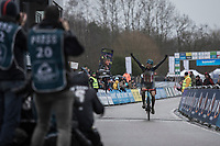 winner Katie Compton (USA/KFC Racing p/b Trek/Panache) finishing<br /> <br /> Women's Race<br /> GP Sven Nys 2018