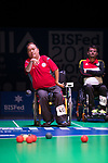 Yuk Wing Leung (HKG)<br /> BC4 Bronze Medal Match<br /> Germany v Hong Kong<br /> BISFed 2018 World Boccia Championships <br /> Exhibition Centre Liverpool<br /> 18.08.18<br /> ©Steve Pope<br /> Sportingwales