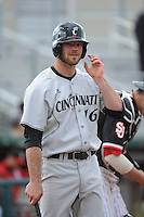 Cincinnati Bearcats outfielder Justin Glass (16) during 2nd game of double header against the St. John's Redstorm at Jack Kaiser Stadium on March 28, 2013 in Queens, New York. Cincinnati defeated St. John's 6-5.      . (Tomasso DeRosa/ Four Seam Images)