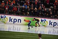 SPEEDSKATING: HAMAR: 01-03-2020, ISU World Speed Skating Championships, Allround, 1500m Ladies, Ireen Wüst (NED), Ivanie Blondin (CAN), ©photo Martin de Jong