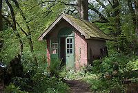 The bothy in the garden at Kirk House, Chipping, Preston, Lancashire.
