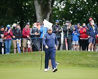 3rd July 2021; Mount Juliet Golf Club, Kilkenny, Ireland; Dubai Duty Free Irish Open Golf, Day Three; Shane Lowery of the Republic of Ireland walks off the 1st green after sinking his putt