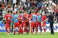Polen freuen sich über das 0:0 - EM 2016: Deutschland vs. Polen, Gruppe C, 2. Spieltag, Stade de France, Saint Denis, Paris