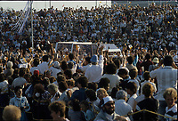 September , 1984 File Photo - Pope John-Paul II   rides the papamobile  during his 12 days tour of Canada.