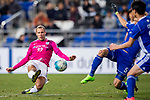 Kitchee Midfielder Krisztian Vadocz (L) in action during their AFC Champions League 2017 Playoff Stage match between Ulsan Hyundai FC (KOR) vs Kitchee SC (HKG) at the Ulsan Munsu Football Stadium on 07 February 2017 in Ulsan, South Korea. Photo by Chung Yan Man / Power Sport Images