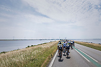 when exposed to the heavy sea winds, Team LottoNL-Jumbo forces the peloton to break into echelons<br /> <br /> Ster ZLM Tour (2.1)<br /> Stage 2: Tholen > Hoogerheide (186.8km)