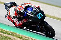 30th March 2021; Barcelona, Spain; Superbikes, WorldSSP600 , day 2 testing at Circuit Barcelona-Catalunya;   R. Krumenacher riding Yamaha YZF R6 from EAB Racing Team