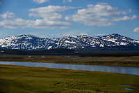 Hayden Valley is pictured in Yellowstone National Park, Wyoming on Tuesday, May 23, 2017. (Photo by James Brosher)