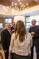 Le Ministre de la sante Gaeten Barrette, le 15 fevrier 2015, a Brossard <br />  <br /> PHOTO : <br /> - Agence Quebec presse