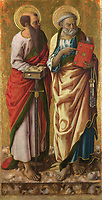 Full title: Saints Peter and Paul<br /> Artist: Carlo Crivelli<br /> Date made: probably 1470s<br /> Source: http://www.nationalgalleryimages.co.uk/<br /> Contact: picture.library@nationalgallery.co.uk<br /> <br /> Copyright © The National Gallery, London