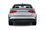 Straight rear view of 2015-2016 Audi A4 Premium 4 Door Sedan stock images