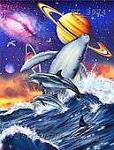 Interlitho, Lorenzo, FANTASY, paintings, fish, universe, KL, KL3974,#fantasy# illustrations, pinturas