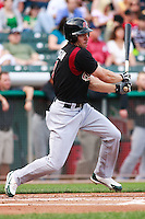 June 4, 2009:  Matt Carson of the Sacramento River Cats, Pacific Cost League Triple A affiliate of the Oakland Athletics, during a game at the Spring Mobile Ballpark in Salt Lake City, UT.  Photo by:  Matthew Sauk/Four Seam Images