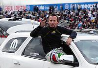 Feb. 12, 2012; Pomona, CA, USA; NHRA funny car driver Jack Beckman during the Winternationals at Auto Club Raceway at Pomona. Mandatory Credit: Mark J. Rebilas-