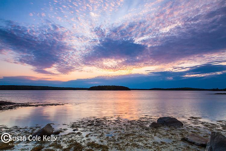 Sunset on Taunton Bay, Hancock County, Maine, USA