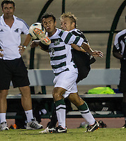 Number 8 ranked Charlotte beats number 16 ranked Coastal Carolina 1-0 on a goal by Thomas Allen in the 101st minute during the second overtime.  Dominic Bonilla (12), Henrik Robstad (6)