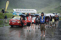 super soaked finish of stage 9 in Andorra Arcalis (coming from Velha Val d'Aran/ESP, 184km)<br /> <br /> 103rd Tour de France 2016