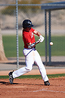 John Blanchard III (45), from Amite, Louisiana, while playing for the Cardinals during the Under Armour Baseball Factory Recruiting Classic at Red Mountain Baseball Complex on December 29, 2017 in Mesa, Arizona. (Zachary Lucy/Four Seam Images)