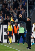 Football Soccer: UEFA Champions UEFA Champions League quarter final first leg Juventus-Barcellona, Juventus stadium, Turin, Italy, April 11, 2017. <br /> Barcellona's coach Luis Enrique gestures to his players during the Uefa Champions League football match between Juventus and Barcelona at the Juventus stadium, on April 11 ,2017.<br /> UPDATE IMAGES PRESS/Isabella Bonotto